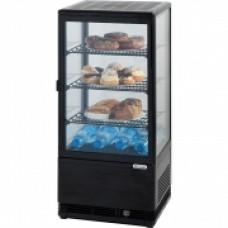 Вітрина холодильна чорна 78 л